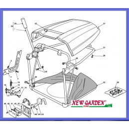 Exploded view lot mower...