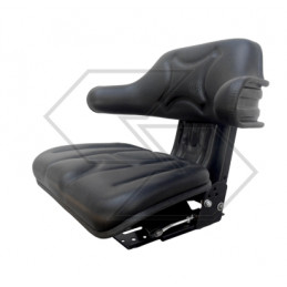 Bucket seat with a tilting...